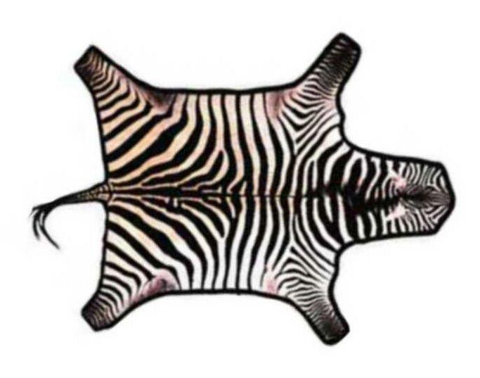 Zebra skin rug for Zebra rug ikea